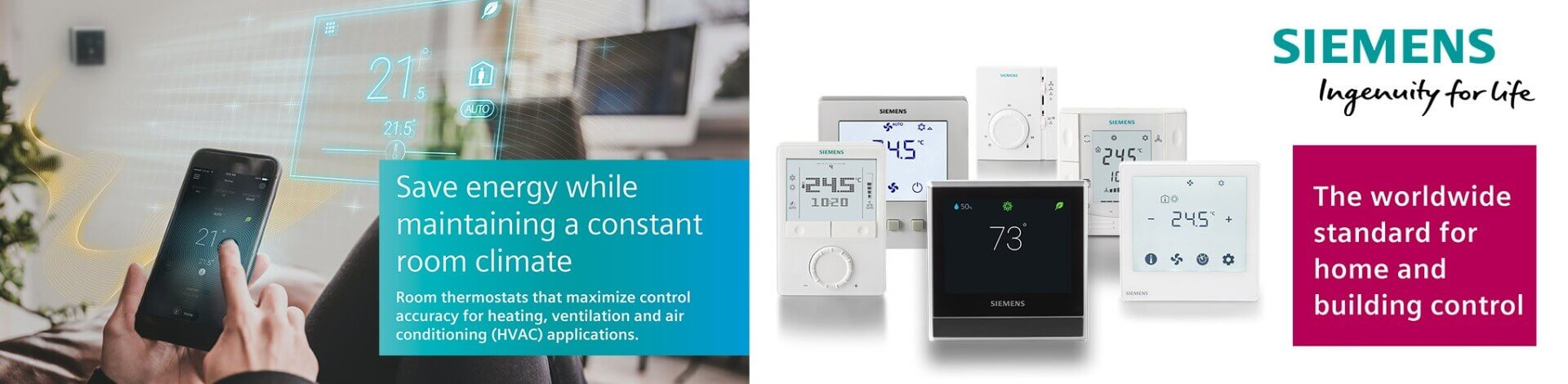 Siemens Room Thermostats - Corys Build Centre